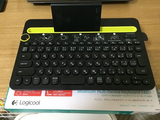 スマホ、タブレット用キーボード LOGICOOL Bluetooth マルチデバイス キーボード ブラック k480